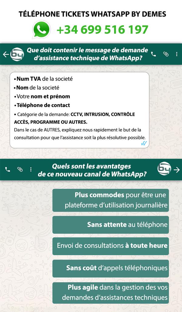 téléphone tickets whatsapp bydemes