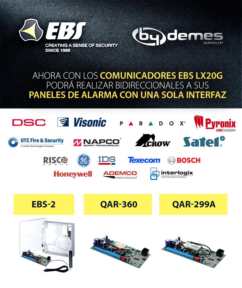 Ahora con los comunicadores EBS LX20G podrá realizar bidireccionales a sus paneles de alarma con una sola interfaz